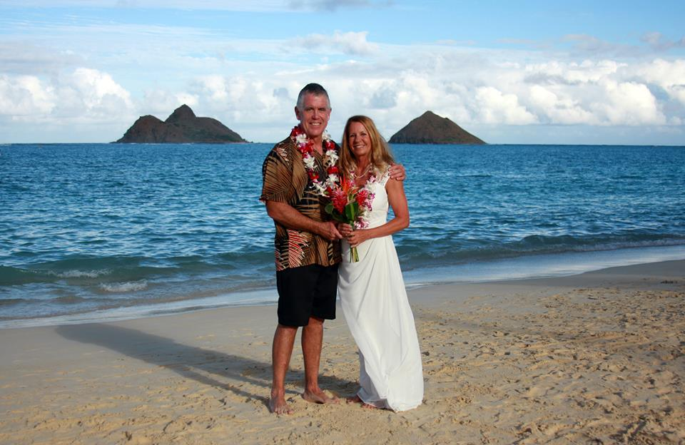 Lanikai Beach Wedding Dan Cyndee